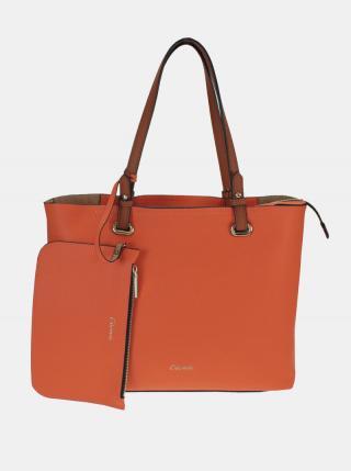 Oranžový shopper s malým púzdrom Gionni dámské oranžová