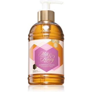 Oriflame Milk & Honey Gold Amber Elegance jemný sprchový gel na ruky a telo 300 ml 300 ml