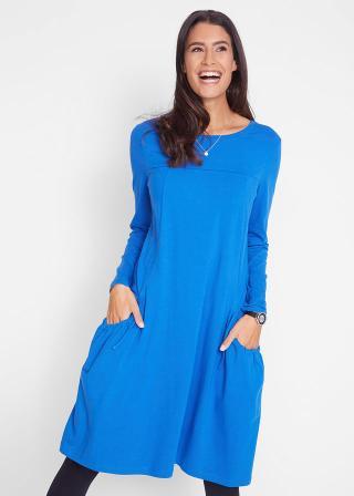 Oversize-šaty s vreckami, rozšírené dámské modrá 36/38,40/42,44/46,48/50,52/54,56/58