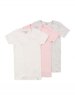 OVS Tričko  biela / sivá melírovaná / pastelovo ružová dámské 86-92