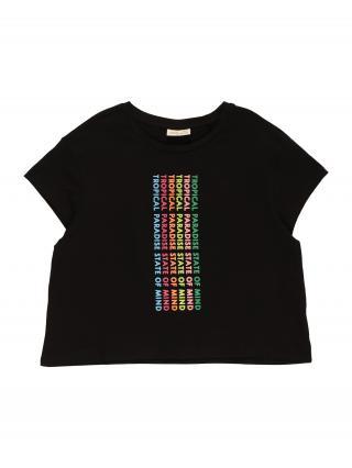 OVS Tričko  čierna / zmiešané farby dámské 152