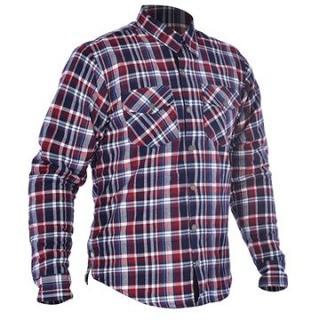 OXFORD košile KICKBACK CHECKER s Kevlar® podšívkou červená/modrá