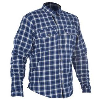 OXFORD košile KICKBACK CHECKER s Kevlar® podšívkou modrá/bílá