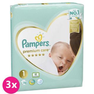 PAMPERS Premium Care 1 NEWBORN 234 ks  MESAČNÉ BALENIE - jednorazové plienky