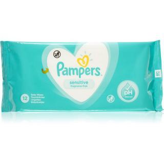 Pampers Sensitive detské jemné vlhčené obrúsky pre citlivú pokožku 12 ks 12 ks