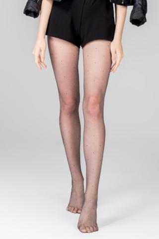 Pančuchové nohavice Anytime Dots 13 DEN dámské ČIERNA 2