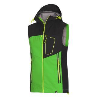 Pánska vesta NORTHFINDER RAPRET pánské čierna | zelená | svetlozelená S
