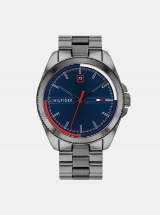 Pánske hodinky s ocelovým remienkom v striebornej farbe Tommy Hilfiger pánské strieborná