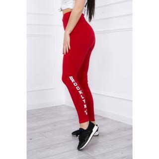 Pants leggings Brooklyn red Neurčeno One size