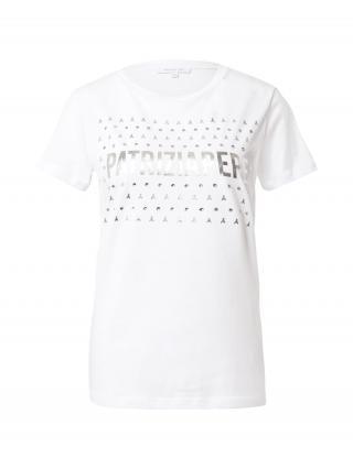 PATRIZIA PEPE Tričko  biela / strieborná dámské M
