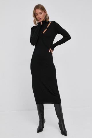 Patrizia Pepe - Vlnené šaty dámské čierna 38