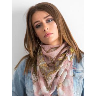 Patterned powder pink scarf dámské Neurčeno One size