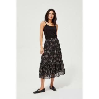 Patterned skirt with a frill - black dámské Other M