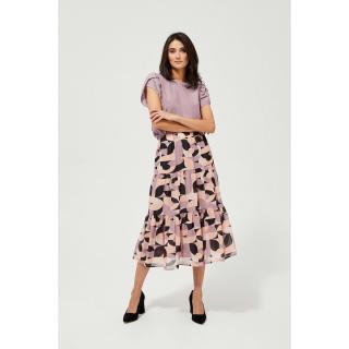 Patterned skirt with a frill - pink dámské Other M