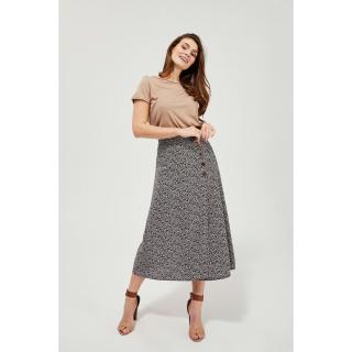 Patterned skirt with buttons - navy blue dámské Other 36