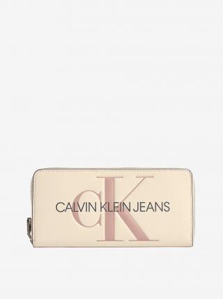 Peňaženky pre ženy Calvin Klein - krémová dámské