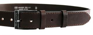 Penny Belts Pánsky kožený opasok 17-1-40 Hnedý 95 cm