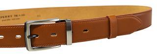 Penny Belts Pánsky kožený spoločenský opasok 35-020-2-42 Hnedý 95 cm