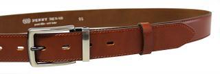 Penny Belts Pánsky kožený spoločenský opasok 35-020-2-43 Hnedý 95 cm