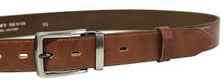 Penny Belts Pánsky kožený spoločenský opasok 35-020-2-48 Hnedý 95 cm