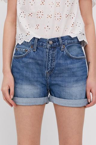 Pepe Jeans - Rifľové krátke nohavice Mable dámské modrá 26