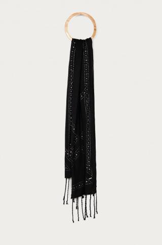 Pepe Jeans - Šál Pia dámské čierna ONE SIZE