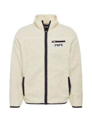 Pepe Jeans Tepláková bunda GRIFFIN  biela / čierna pánské XS