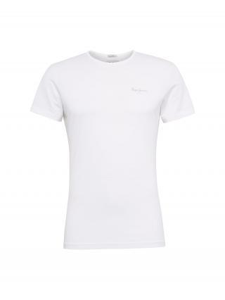 Pepe Jeans Tričko ORIGINAL BASIC S/S  biela pánské XXL