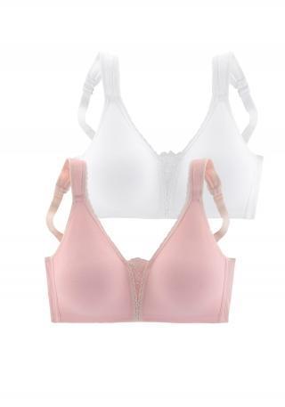 PETITE FLEUR Podprsenka  biela / rosé dámské 90