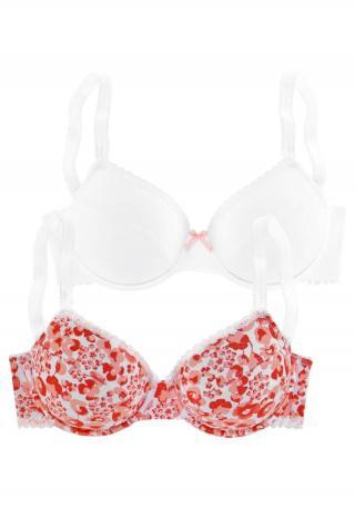 PETITE FLEUR Podprsenka  červená / biela dámské 70