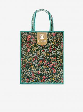 Petrolejová vzorovaná nákupná taška PiP studio Winter Wonderland dámské