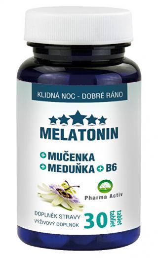 Pharma Activ Melatonín Mučenka Medovka B6 30 tablet