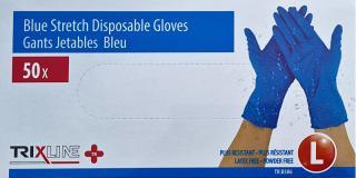 Pharma Activ Rukavice nitril / vinyl modrá bez púdru L jedn. 50 ks