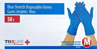Pharma Activ Rukavice nitril / vinyl modrá bez púdru M jedn. 50 ks