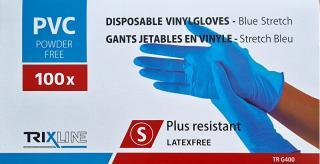 Pharma Activ Rukavice nitril/vinyl modré bez pudru S jedn. 100 ks