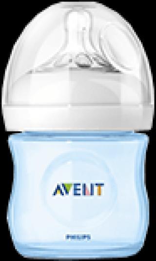 Philips AVENT Dojčenská fľaša 125 ml Natural 0m , (PP), 1 ks, modrá