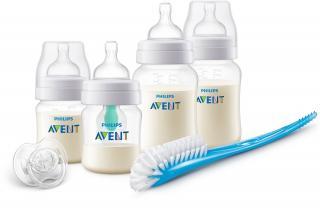 Philips AVENT Novorodenecká štartovacia sada Anti-colic s ventilom AirFree biela