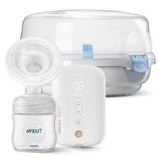 Philips AVENT Odsávačka materského mlieka elektronická Premium nabíjacia SCF396   Sterilizátor do mi