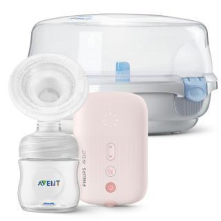 Philips AVENT Odsávačka materského mlieka elektronická SCF395   Sterilizátor do mikrovlnnej rúry