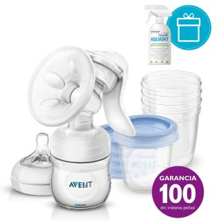 PHILIPS AVENT Odsávačka mlieka Natural   5 ks VIA 180 ml   AQUAINT 500 ml