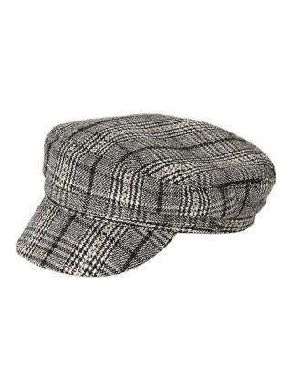 Pieces Dámska čiapka PCHAVANNA BAKER BOY HAT BOX Black Checks M/L dámské
