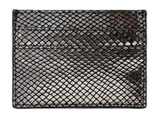 Pieces Dámska peňaženka PCNAINA LEATHER SNAKE CARDHOLDER Black snake dámské