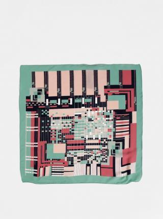 Pink-green Patterned Headscarf Pieces Netty dámské světle zelená One size