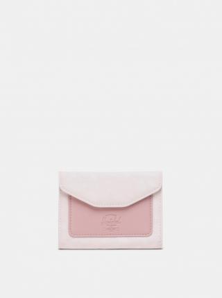 Pink Leather Wallet Herschel Supply dámské růžová One size