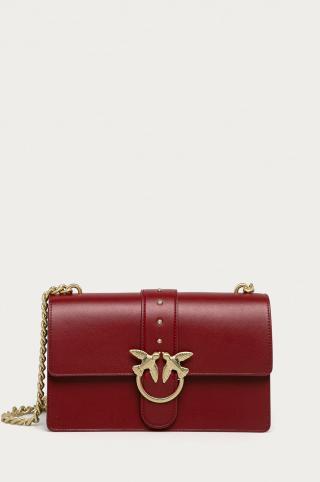 Pinko - Kožená kabelka dámské burgundské ONE SIZE