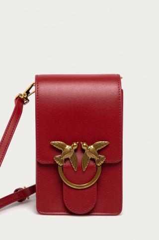 Pinko - Kožená kabelka dámské červená ONE SIZE