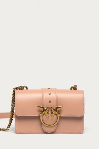 Pinko - Kožená kabelka dámské ružová ONE SIZE