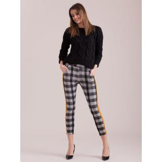 Plaid pants with colorful stripes in gray dámské Other M
