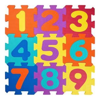 Plastica 91627 puzzle koberec Čísla 10 ks