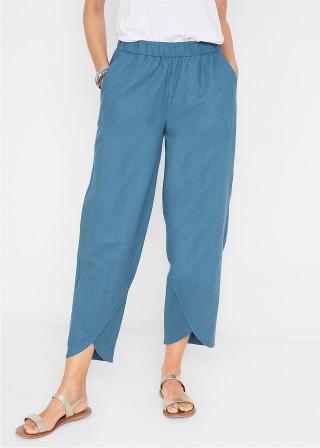 Plátené nohavice, Loose-Fit dámské modrá 38,40,42,44,46,48,50,52,54,56